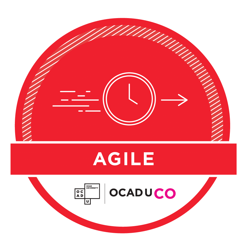OCAD U CO Workshop Achievement Badges - Agile