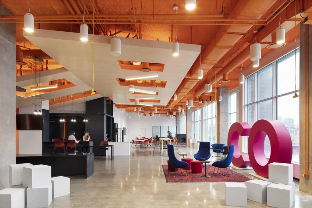 OCAD U CO Waterfront Facility - Commons facing north